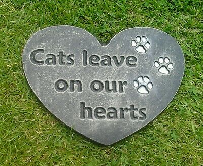 large Pet Memorial/headstone/stone/grave marker/memorial cat 1