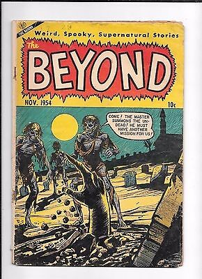 The Beyond # 29 Zombies ! Classic Hard to Find Pre Code