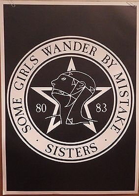 "MUSIC POSTER~Sisters of Mercy 1992 Original 24x34"" Some Girls Wander By Mistake~"