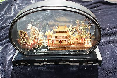 ASIAN carving in glass case