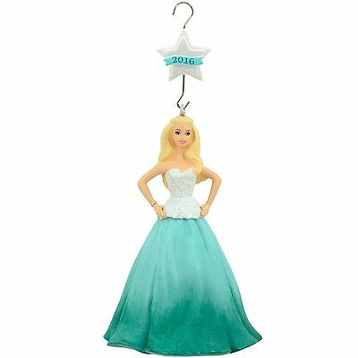 Hallmark Mattel 2016 Holiday Barbie Ornament COLLECTIBLE @4FreeShipping NEW