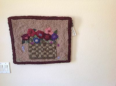 """Hand Hooked Wool Wall Hanging ( 22"""" X 18"""")"""