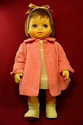 VINTAGE 1960s MATTEL CHATTY CATHY TINY CHATTY BABY DOLL IN PARTY DRESS & COAT