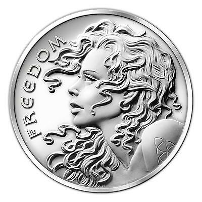 2~Oz ~ Pure .999 Silver  Round ~ Freedom  Girl ~ Limited ~ $62.88 ~ Buy It Now !