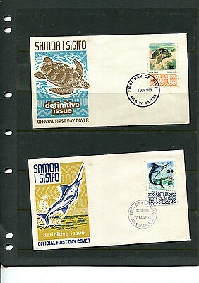 SAMOA 1972 COVER SG399a & SG399b $2 & $4 HIGH VAL. DEFINITIVE  FIRST DAY COVERS