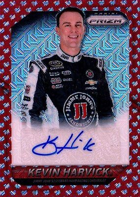 2016 Panini Prizm NASCAR Racing Red Refractor Autograph Kevin Harvick (KH) 08/15