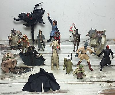 Mixed 18 Piece Lot Of Star Wars Action Figures