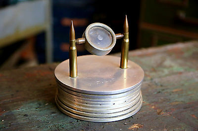 WW2 Artillery Shell 1940's TRENCH ART Military Magnifying Glass Tokyo Japan
