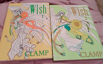 Wish Anime Books Volumes 1-2 By Clamp In Japanese