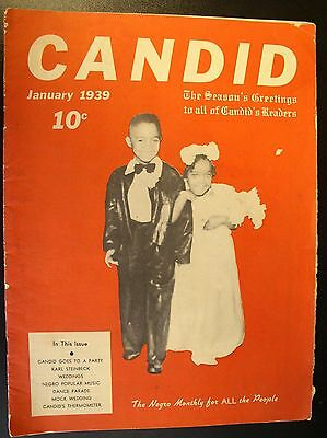 """1939 CANDID Magazine """"The Negro Monthly  for ALL People""""  - Vol. 1 NO. 8"""