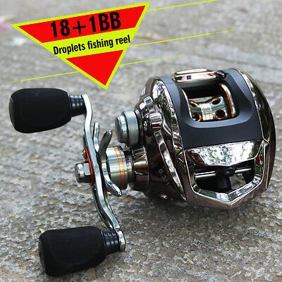 Left Right Hand Bait Casting Fishing Reels 18+1BB Smooth Low Profile Fish Reel