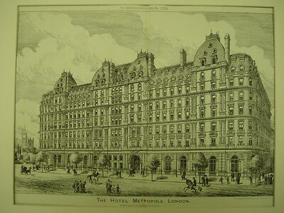 The Hotel Metropole, London, England, 1883, Original Plan