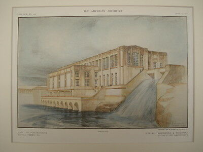 Perspective, Dam and Power-House, McCall Ferry, PA, 1909, Original Plan