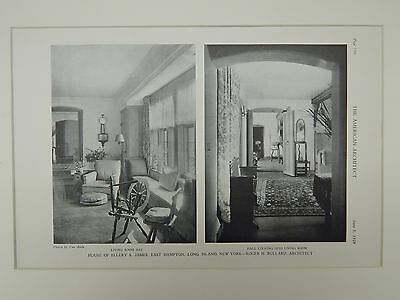 Living Room & Hall, House of Ellery S. James, East Hampton, NY, 1929, Lithograph