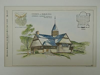 Church at Dublin, NH, 1888, Original Plan