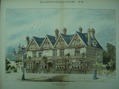 White Hart Hotel, Blackwater, England, 1894, Original Plan