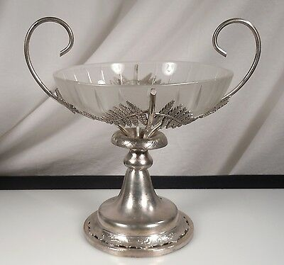 Antique Silver Plate Rogers & Bro Centerpiece Footed Bowl
