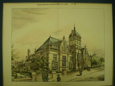 High School for Girls, Blackburn, England, 1891, Original Plan