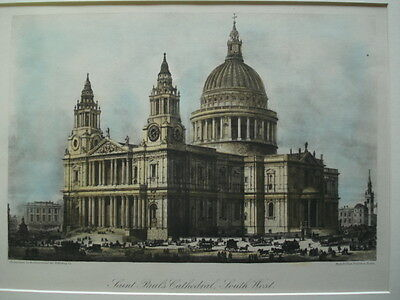 Saint Paul's Cathedral, South West, London, England, 1886- Hand-Colored