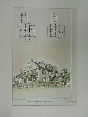 Cornwall Hill, Patterson, Putnam County, NY, 1901, Original Plan. G.M. Huss.