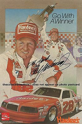 Cale Yarborough Autographed Signed Vintage Hardee's Racing Nascar Photo Postcard