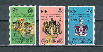 New Hebrides #233 -35 used,  Queen Elizabeth Silver Jubilee 1977