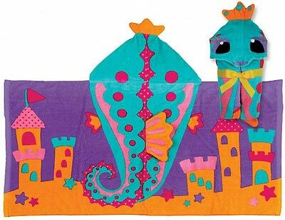 New Personalized Stephen Joseph Seahorse Hooded Towel & Embroidered Kids