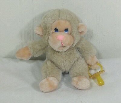 Russ Chee Chee Monkey Baby Pacifier Beige Stuffed Animal Plush Russ Berries 6""