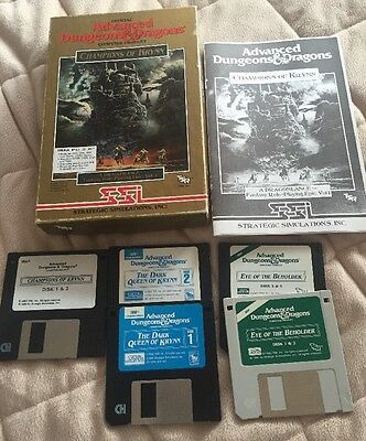 Vintage Advanced Dungeons & Dragons Computer Products Champions Of Krynn, More