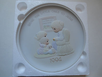 Precious Moments Bring the Little Ones To Jesus Collector Plate Enesco
