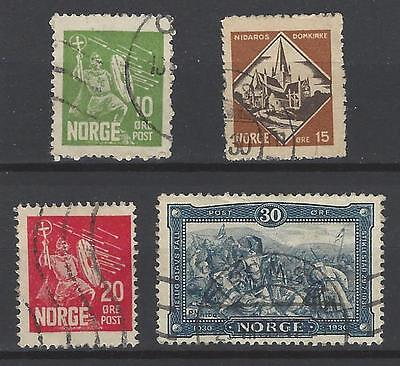 Norway 1930 Sc#150-3 St. Olaf Issue. Used set.