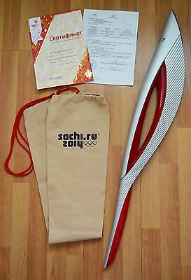 Original Official Olympic Games Torch Sochi 2014 / Fackel Olympische Sochi 2014