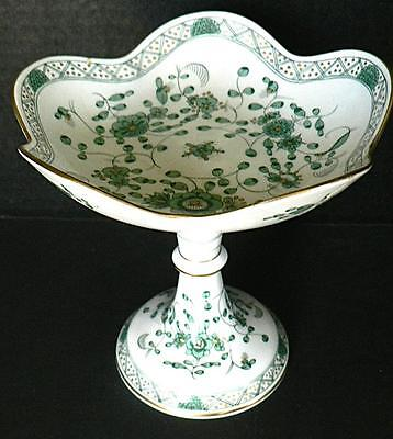 Meissen Germany Green Indian Compote Repaired