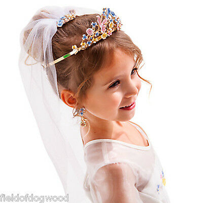 Disney Store Cinderella Deluxe Wedding Accessory Set Tiara Veil Earrings Ring
