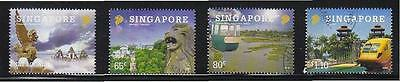 Singapore 2009 Indonesia Joint Issue Tourist's Attraction Comp Set 4 Stamps Used