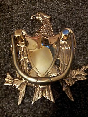 Vintage - Antique Eagle Door Knocker / Solid Heavy Brass / Hand Polished
