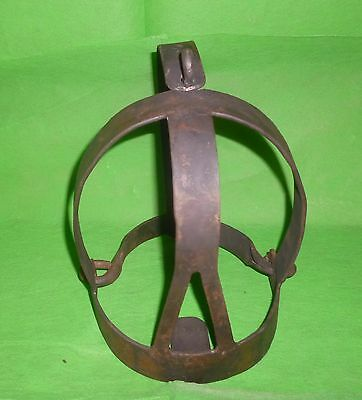Old Helmet Restric Speech For Slave / Prisone Head Torture Device  Hand Forged