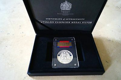 200th Anniversary Sterling Silver Waterloo Medal 1815-2015