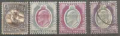 MALTA OLD ISSUE 2 FIRST SCANS WM CROWN C A 3RD AND 4TH SCAN C A MULTIPLE (5Shg)