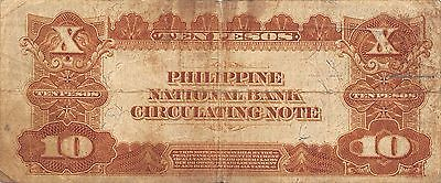 Philippines  10 Pesos  P 54  Series of 1921 circulated Banknote A23