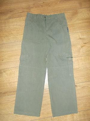 Girls Trespass Grey Combat Trousers - age 7/8