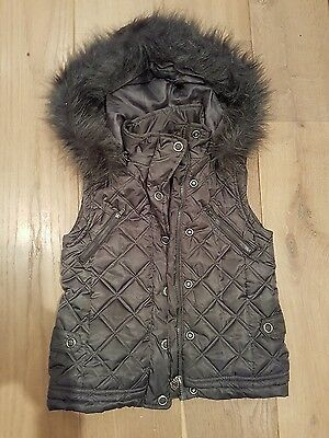 Mayoral girls super stylish  puffa full trim hooded gilet age 10