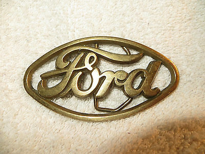 Vintage Ford Belt Buckle Solid Brass