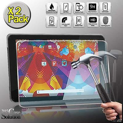 2 Pack Tempered Glass Screen Protector for Argos Alba 10 Inch Tablet