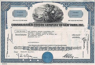 Consolidated Edison Company of New York, 1965 ( 13 Shares)