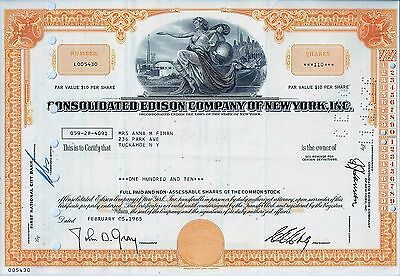 Consolidated Edison Company of New York, 1965 ( 110 Shares)