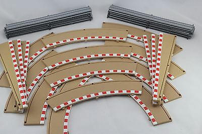 Scalextric Borders And Barriers - 12 x C8228 & 6 C8233 Rad 2 Lead In Out