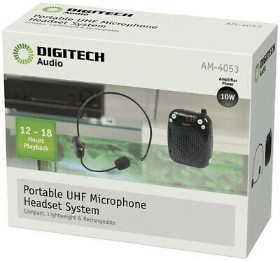 DIGITECH Portable Wireless UHF Microphone Headset System/compact lightweight