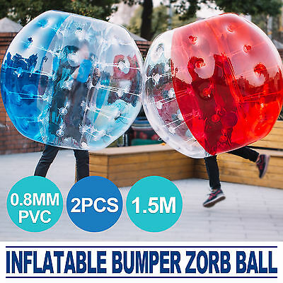 2Pcs 1.5M Body Inflatable Bubble Bumper Zorb Ball TPU Human Reusable Outdoor