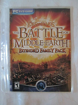 Pc Dvd  Game - Lord Of The Rings Battle For Middle Earth Extended. As New Cond